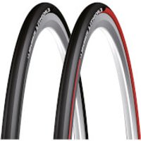 Michelin Lithion 3 Folding Clincher Road Tyre - 700c x 25mm - Red