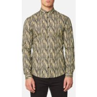Versace Collection Men's Shirt - Blu/Stampa - IT 39/M - Blue