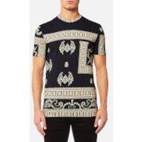 Versace Collection Mens T-Shirt - Beige/Stampa - S - Beige
