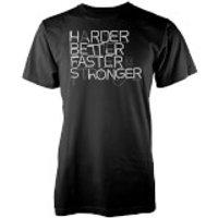 Vo Maria Harder Better Faster Stronger Mens Black T-Shirt - XXL