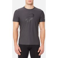 Asics Mens Graphic Short Sleeve Top - Dark Grey/Performance Black - M - Grey