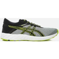 Asics Running Mens Fuze X Lyte 2 Trainers - Mid Grey/Black/Energy Green - UK 9 - Grey