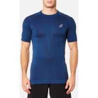 Asics Mens Short Sleeve Seamless Top - Limoges - L - Blue