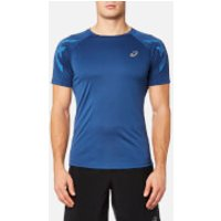 Asics Mens Asics Stripe Short Sleeve Top - Limoges Heather - XL - Blue
