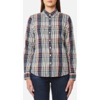 GANT Womens Twill Flannel Check Slim Shirt - Cream - L - Cream