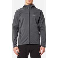 Jack Wolfskin Mens Northern Point Softshell Jacket - Ebony - XL - Grey