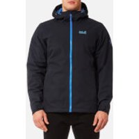 Jack Wolfskin Mens Chilly Morning Hooded Jacket - Night Blue - S - Blue