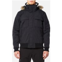 Jack Wolfskin Mens Brockton Point Jacket with Faux Fur Lined Hood - Black - L - Black