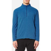 Jack Wolfskin Mens Arco 1/4 Zip Fleece - Royal Blue Stripes - XXL - Blue