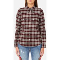 Levi's Women's Modern Western Shirt - Cottonwood Merlot - XS - Multi