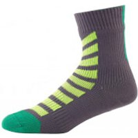 Sealskinz MTB Ankle Socks with Hydrostop - Anthracite/Lime - S - Grey/Green
