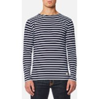 Armor Lux Men's Sailor Shirt Long Sleeve Top - Navire Blanc - S - Blue