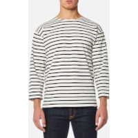 Armor Lux Mens Beg Meil 3/4 Sleeve Breton Stripe Top - Nature/Navire - 5/XL - Cream
