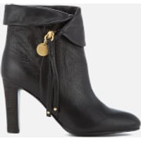 See By Chloé Women's Leather Fold Over Heeled Ankle Boots - Nero - UK 6 - Black