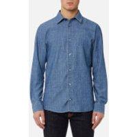 A.P.C. Men's Chemise 87 Shirt - Indigo Delave - L - Blue