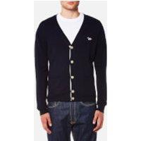 Maison Kitsuné Men's Virgin Wool Classic Cardigan - Navy - M - Blue