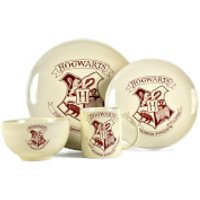 Harry Potter Hogwarts Crest 4 Piece Dinner Set - Harry Potter Gifts