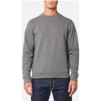 Lacoste Men's Embossed Logo Sweatshirt - Galaxite Chine - XXL/7 - Grey