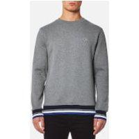 Lacoste Men's Welt Detail Sweatshirt - Galaxite Chine/Multico - L/5 - Grey