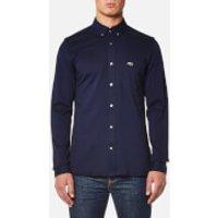 Lacoste Mens Long Sleeve Jersey Shirt - Methylene/Black - M/40cm - Blue