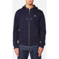 Lacoste Mens Zipped Hoody - Navy Blue/Methylene - XXL/7 - Blue