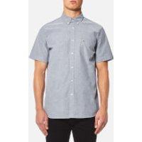 Lacoste Men's Plain Short Sleeve Shirt - Navy Blue/White - L/42cm - Blue