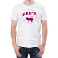 Dad's BBQ Men's White T-Shirt - XXL - White - Bbq Gifts