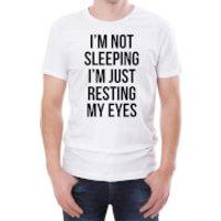 Im Not Sleeping Im Just Resting My Eyes Mens White T-Shirt - S