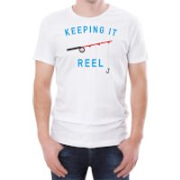 Keeping It Reel Men's White T-Shirt - L - White