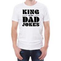 King Of The Dad Jokes Mens White T-Shirt - S - White