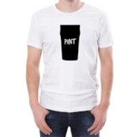 Pint Silhouette Print Mens White T-Shirt - L - White