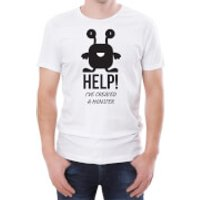 Help Ive Created A Monster Mens White T-Shirt - XL - White