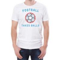 Football Takes Balls Men's White T-Shirt - XXL - White - Football Gifts