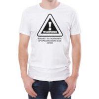 Warning Dad Jokes Mens White T-Shirt - XXL - White