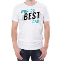 World's Best Dad Men's White T-Shirt - S - White
