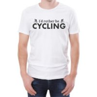 I'd Rather Be Cycling Men's White T-Shirt - L - White