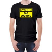 Caution Dad Cooking - Black Mens T-Shirt - XXL - Black - Cooking Gifts