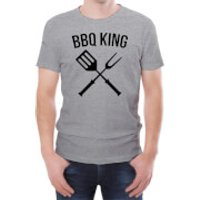 BBQ King Men's Grey T-Shirt - L - White