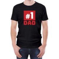 Number One Dad Mens Black T-Shirt - XL - Black