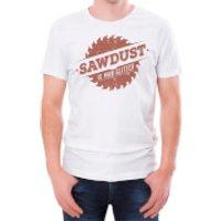 Sawdust Is Man Glitter Mens White T-Shirt - XXL