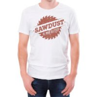 Sawdust Is Man Glitter Men's White T-Shirt - L - White