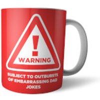 Warning Embarrassing Dad Jokes Mug