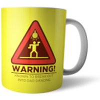 Warning Dad Dancing Mug - Dancing Gifts