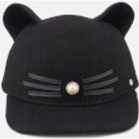Karl Lagerfeld Womens K/Cat Pearl Cap - Black - M - Black
