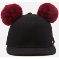 Karl Lagerfeld Womens K/Cat Pom Pom Cap - Black - S - Black
