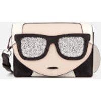 Karl Lagerfeld Womens K/Ikonik Mini Cross Body Bag - Black