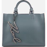 Karl Lagerfeld Womens K/Metal Signature Shopper Bag - Thunder