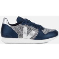 Veja Women's Holiday Runner Trainers - Blend Black/White Petrole - UK 4 - Blue