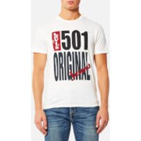 Levis Mens 501 Graphic T-Shirt - 501 Original White - XL - White