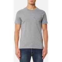 Levis Mens Short Sleeve Set-In Sunset Pocket T-Shirt - Medium Grey Heather - S - Grey